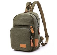 Multipurpose Sporty Canvas Chest Bag , Satchel Backpack, Knapsack