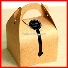 DIY Kraft Paper Handled Cake Boxes And Gift Packaging For Wedding,Birthday Party Supplies, 10*10*14.5cm