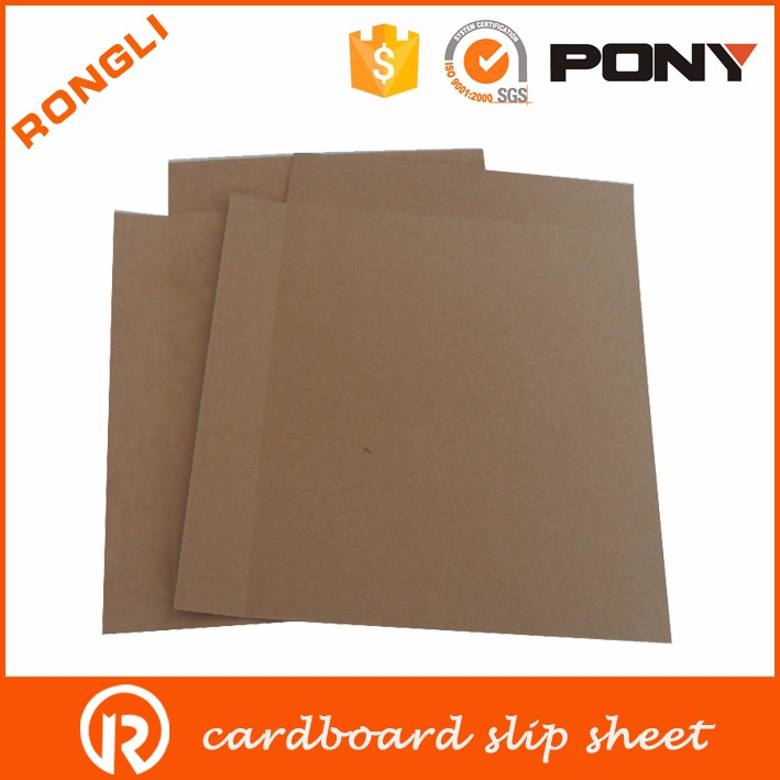 cardboard sheet and paper slip sheet in China