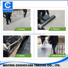 Self-adhesive modified asphalt roofing waterproof rolls