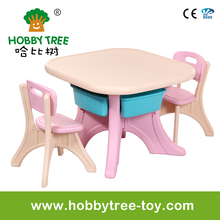 Child plastic study table and chair