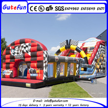 Unique auto world large inflatable bouncer slide combo for sale