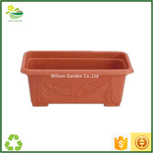 Contemporary large plastic rectangular planters wholesale for gardening