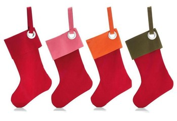 Cheap Red Felt Christmas Stock Hanging