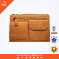 New design factory sell artificial leather case for iPad mini