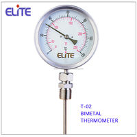 T-02 industrial Bimetal thermometer temperature gauge