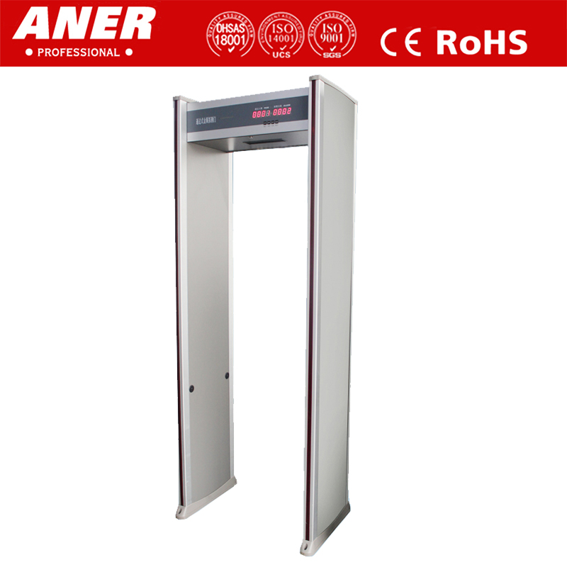 Cheap Price For Sale 6 Detecting Zones Economical Walk Thru Metal Detector Door,Body Scanning Machine In Airport