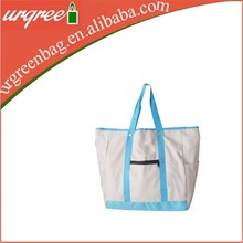 Cotton Made Mini Tote Bags With Outside Pocket Wholesale