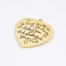 Advanced Gold Plating Heart Shaped Charm Pendants