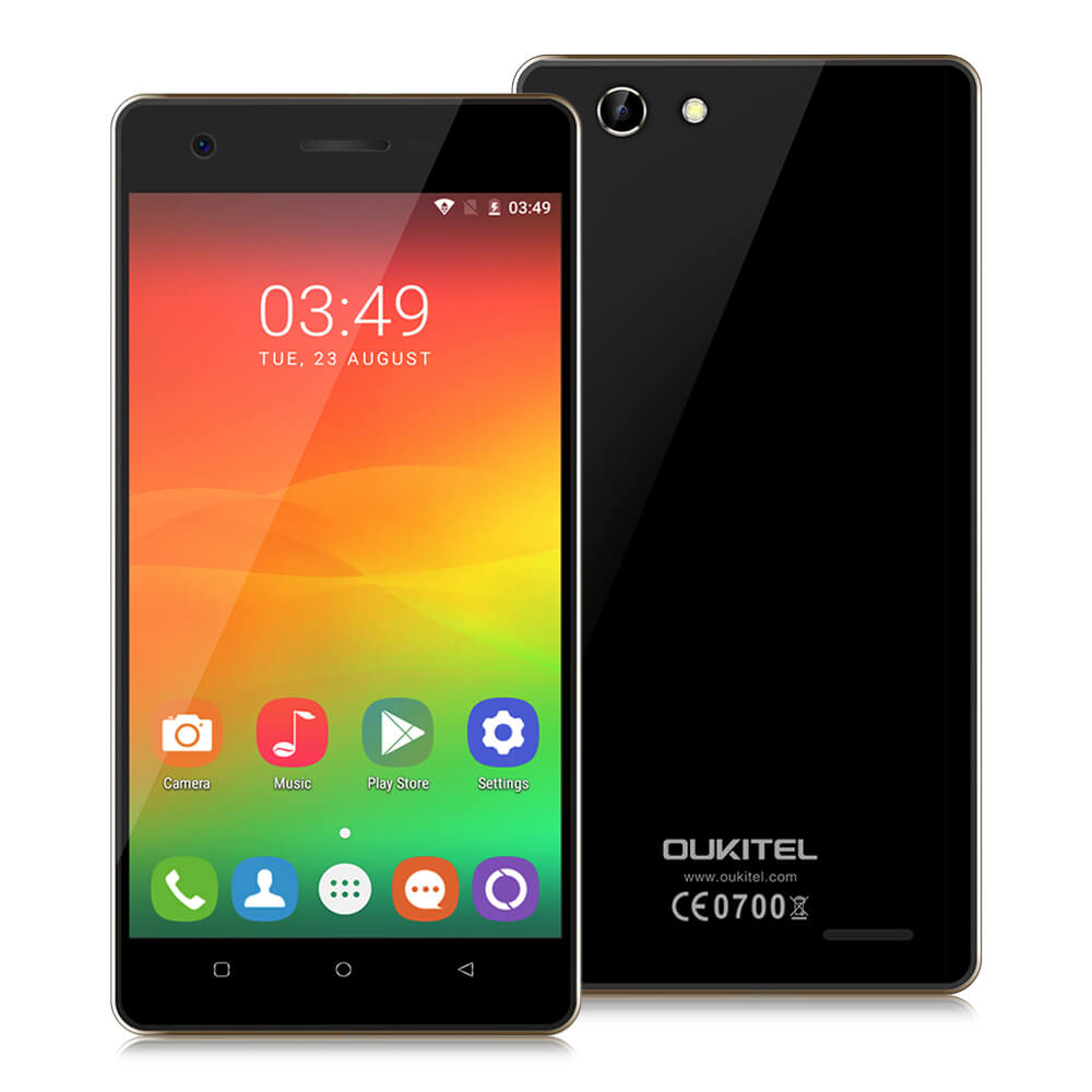 Original Oukitel C4 Smartphone 5.0 Inch Android 6.0 MT6737 Quad Core Mobile Phone 1GB RAM 8GB ROM 1280x720 Dual <strong>SIM</strong> 4G Cellphone