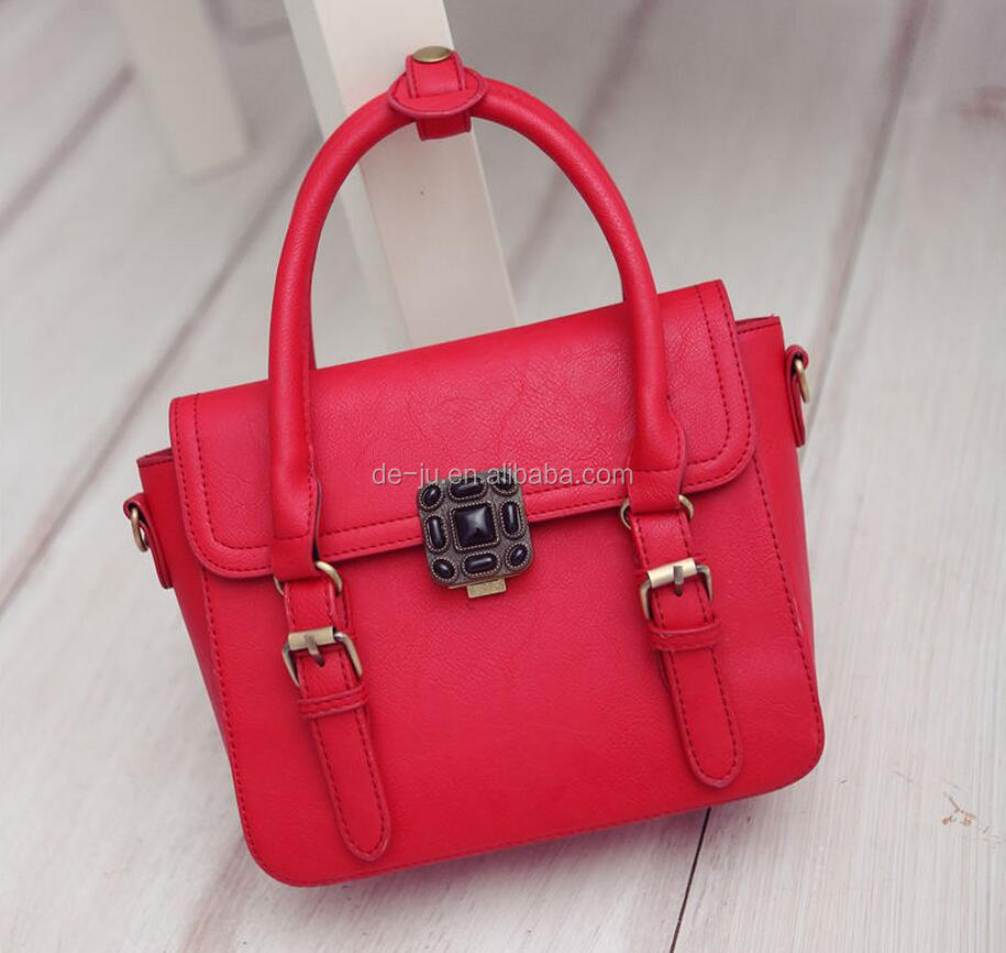 Luxury Pu Leather Artificial Stone Latest Styles Ladies Handbag
