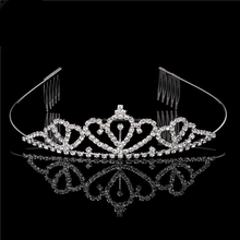 Princess Wedding Bridal Prom Party Pearl Crystal Tiara