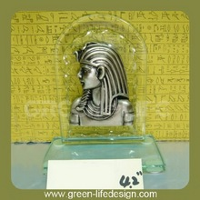 Silver polyresin egyptian statues sculpture