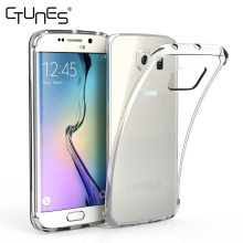 For Samsung Galaxy S6 Edge Case,Soft TPU Crystal Clear Transparent Slim Anti Slip Back Cover Case For Samsung Galaxy S6 Edge