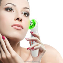 3MHZ Ultrasonic Galvanic Photon Ion Skin Care Facial Massager Machine For Wrinkle Removal