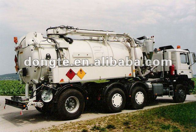 Nissan vacuum cleaning truck/Vacuum Suction Semi Trailers/sewage suction tanker trailer Mr.Keane +86 13597828741