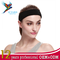 Fashion hair accessories polyester fabric elastic yoga running outdoor sports headband