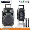 SHIER AK15-309B Rechargeable PA System Amplifiers With USB/DVD/CD/bluetooth/SD/FM/AM, player wireless rechargeable bluetooth spe
