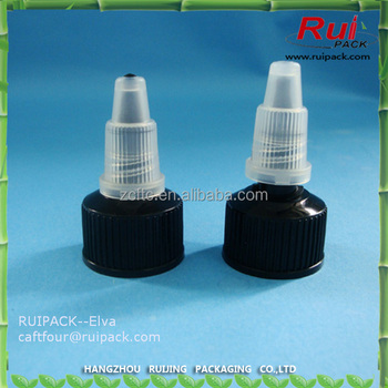 hot sale plastic push-pull cap for bottle 24mm 28mm plastic cosmetic bottle lid