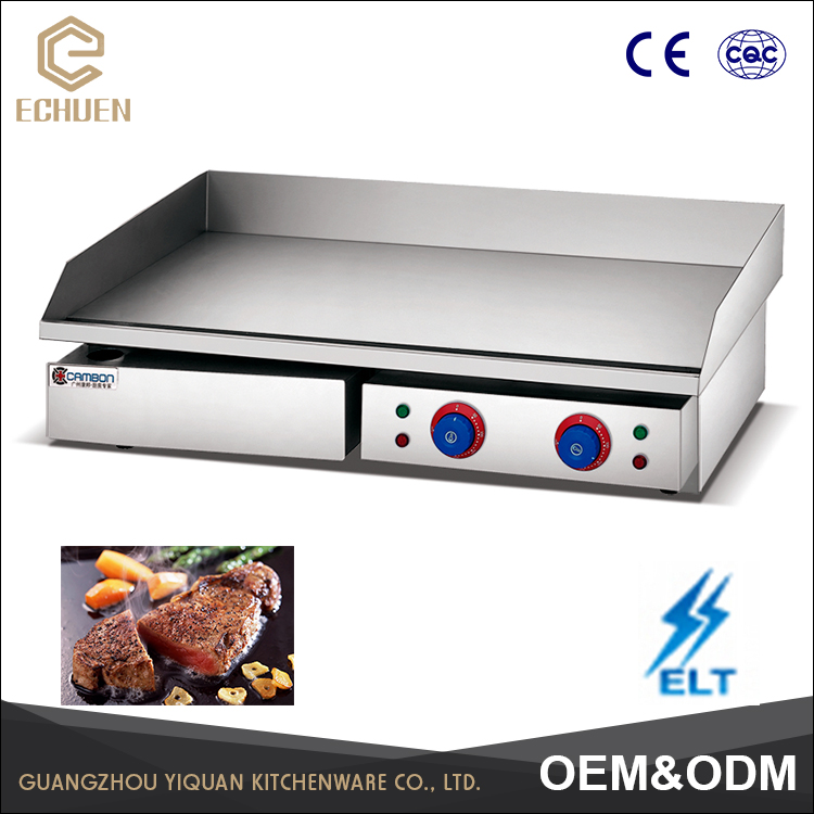 CE Smokeless Teppanyaki Grill Quality assured All Flat Commercial Electric Griddle