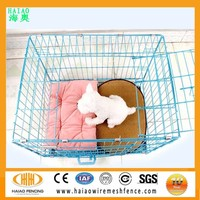 Factory direct sale foldable welded wire mesh small pet cage for teddy dog