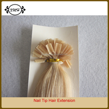 Pre Bonded U Nail Glue Tip Keratin Fusion Straight Remy Hair Extension for Women