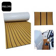 Melors 98in x 47in EVA Synthetic Teak Boat Recreational Vehicle Flooring Non Slip Flooring For Boats