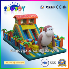 Hot Jungle Inflatable Slide Bouncer Castle Combo Inflatable funcity/ Big Inflatables Playground