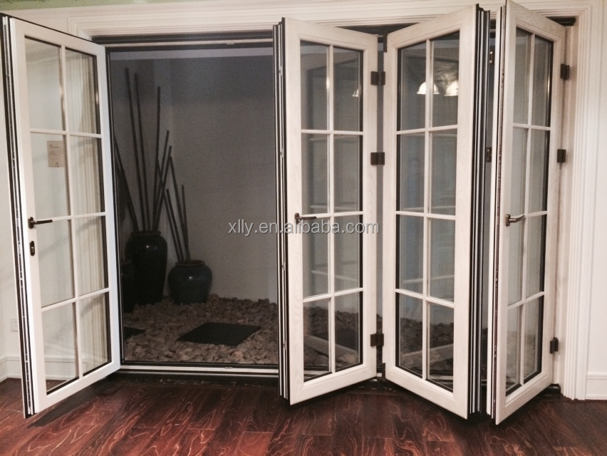 Aluminum alloy folding glass door with high quality