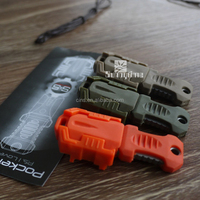 edc tactical pocket knife mounted on webbing strap
