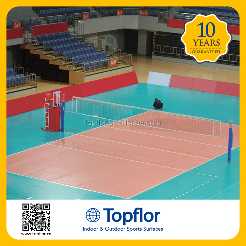 Portable volleyball court flooring mat / volleyball floor pvc material