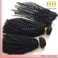 Human hair extension with closure full head jerry curl human hair for braiding