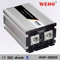 NEW technology! 3000w 24v 110v pure sine wave ac voltage converter