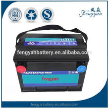 DIN standard 12v 75ah maintenance free cheapest car auto battery