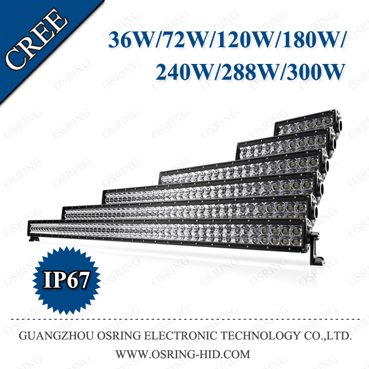 "OSRING 50"" 288W led work light 96pcs*3W for suv off-road atvs car accessories led light bar high waterproof"