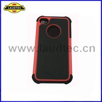 Combo Hard Case,Silicone+PC Hard Cover Case for Apple iphone 4 4S -High quality--Laudtec
