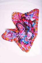 Silk mousseline abstract printed scarf