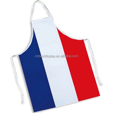 French Flag Durable Adjustable Washable Kitchen Overlock Aprons Mother Gift Cooking Baking Restaurant Unisex