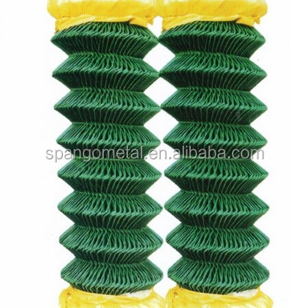 Security PVC Coated Galvanized Chain Link Fence (Factory Exporter)