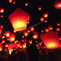 Biodegradable sky lanterns wish balloons for party