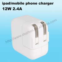 12W 2.4A adapter for ipad fast charger for iphone Universal USB charger Pad and mobile phone charging adapter wholesale OEM/ODM