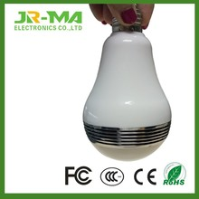 Online price bluetooth 4.0 e27 e26 b22 led light bulb with speaker