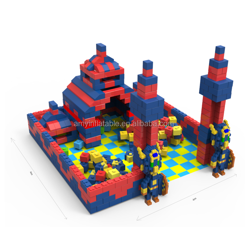 BBC170529 high-end colorful castle building blocks for family and kids games