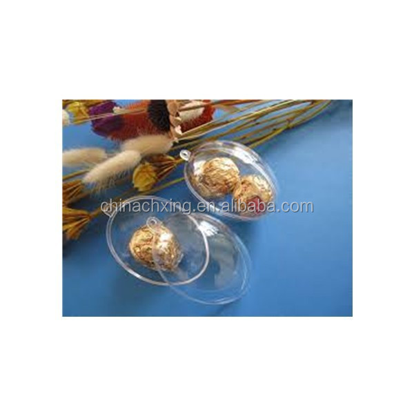 transparent plastic eggs for crafts for Chocolate gift