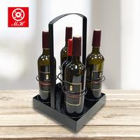 MINGHOU metal wine bottle rack Display Rack Vintage Iron Wine Stand