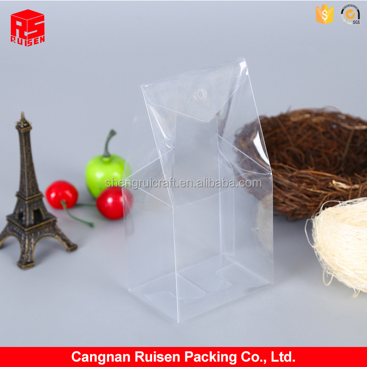 Best selling square soft flat clear folding transprant PVC clear plastic box