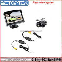 Betoptek Back Up Camera Wireless Transmitter & Receiver 5 Inch LCD Monitor