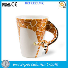 3d giraff ceramic animal mug