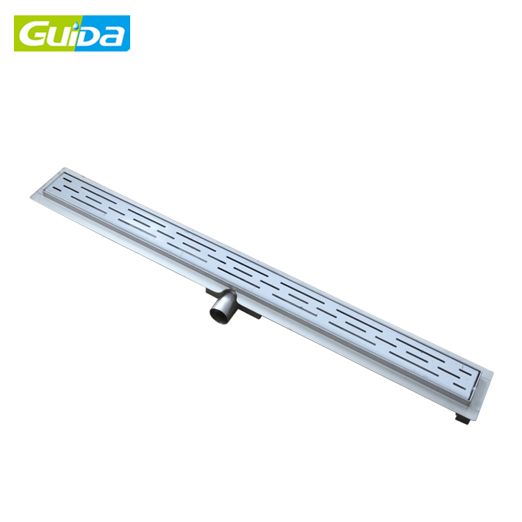 Guida brand 304 stainless steel bathroom shower floor drain with wedge wire grate