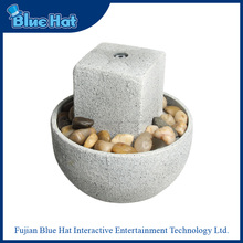 Classic style white resin artificial indoor fountain for home decor